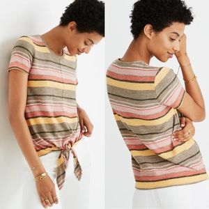Madewell Texture & Thread Modern Tie Front Top